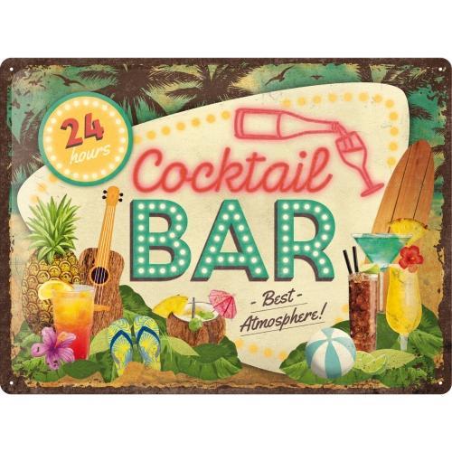 Metallskylt 30×40 cm Cocktail Bar