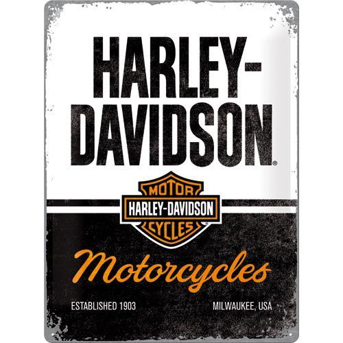 Metallskylt 30×40 cm Harley-Davidson Motorcycles