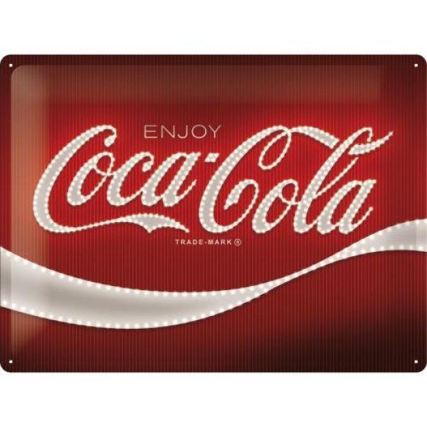 Metallskylt 30×40 cm Coca-Cola Logo