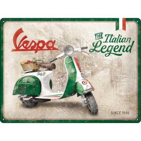 Metallskylt 30×40 cm Vespa The Italian Legend