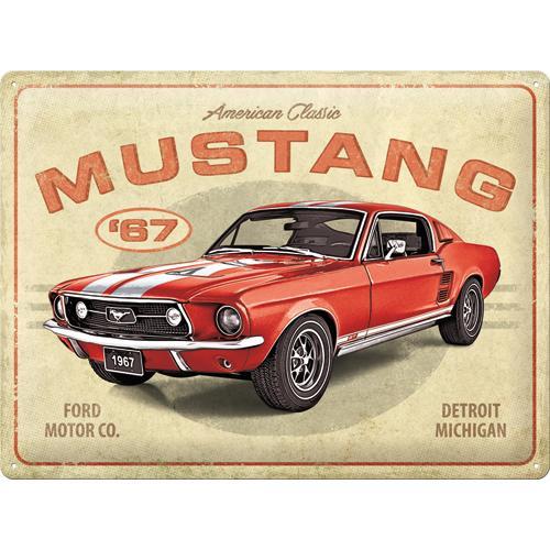 Metallskylt 30×40 cm Ford Mustang 67