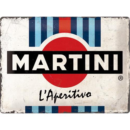 Metallskylt 30×40 cm Martini L'Aperitivo