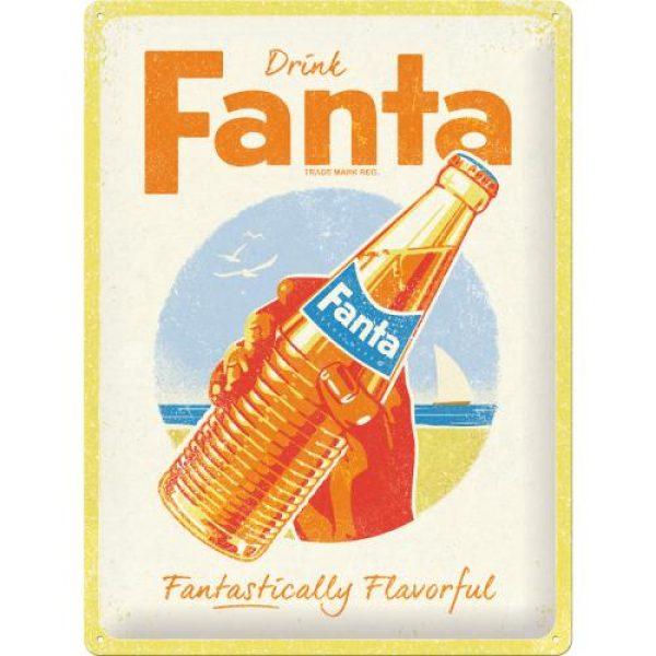 Metallskylt 30×40 cm Fanta – Bottle - Beach Special