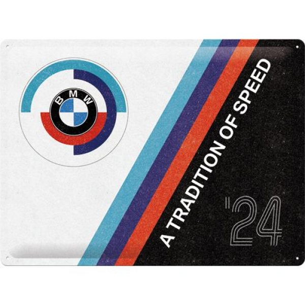 Metallskylt 30×40 cm BMW Motorsport – Tradition Of Speed