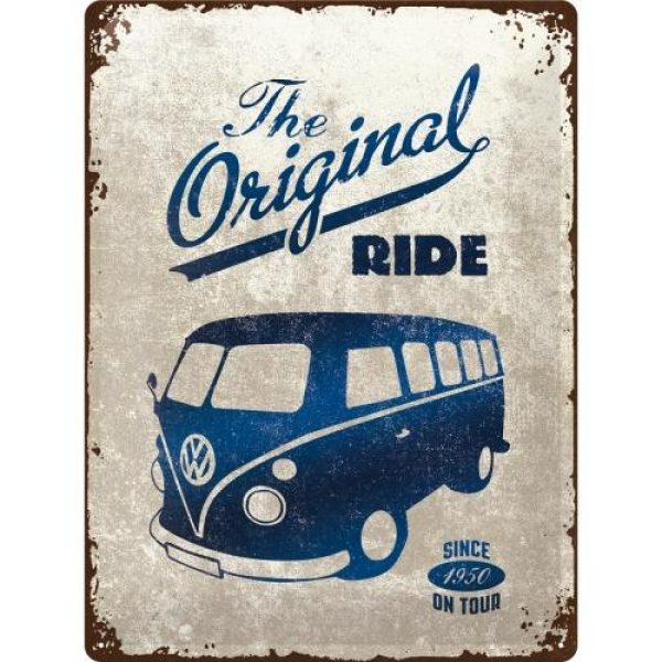 Metallskylt 30×40 cm Volkswagen - The Original Ride