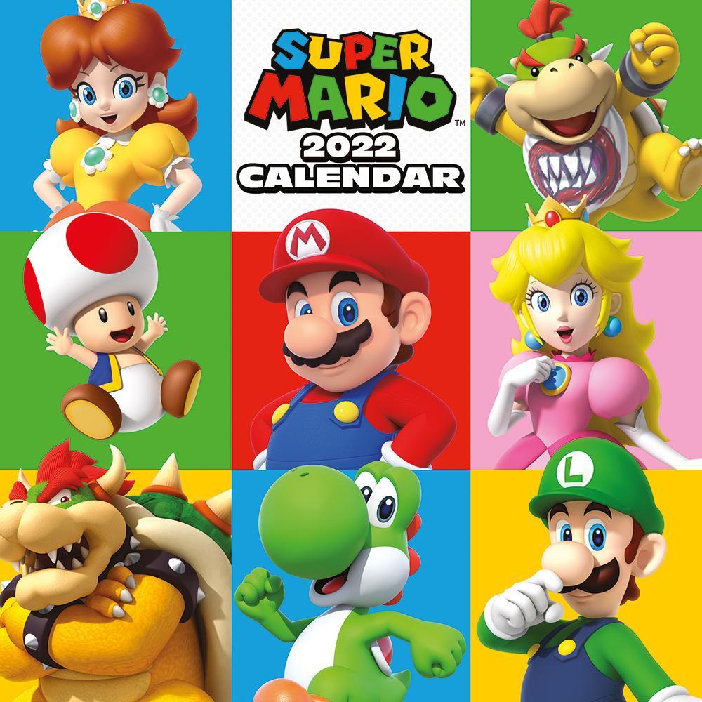 Super Mario 2022 - Kalender 30 x 30 cm