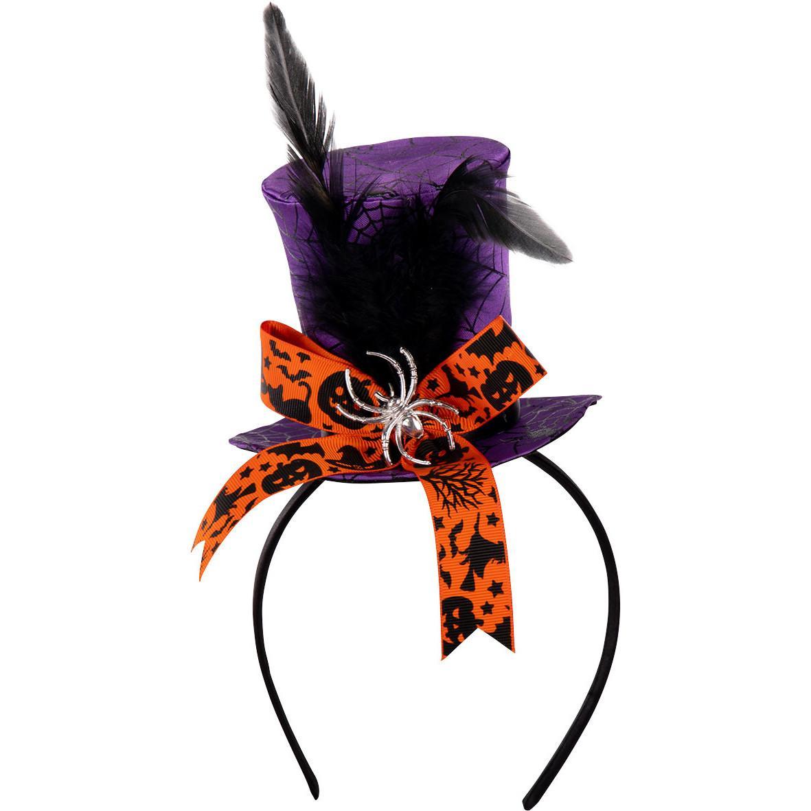 Minihatt på diadem/halloween