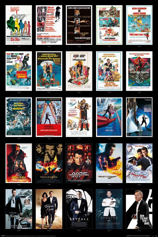 James Bond (Poster - 25 Films)