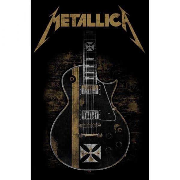 Posterflagga - Metallica - Hetfield guitar