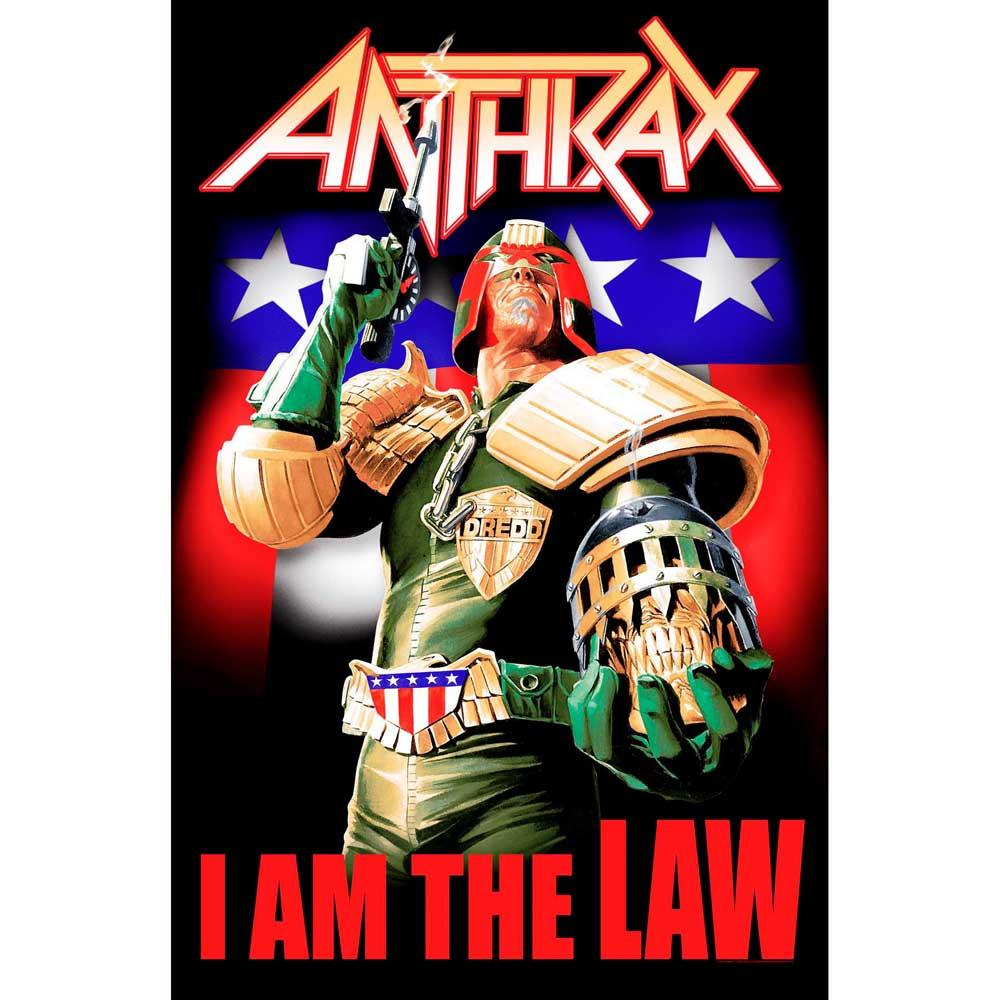 Posterflagga - Anthrax -I Am the Law