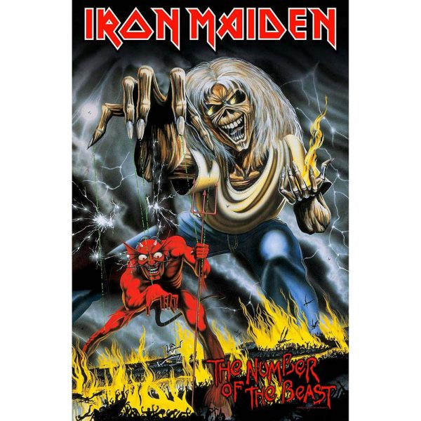 Posterflagga - Iron Maiden Number of the Beast