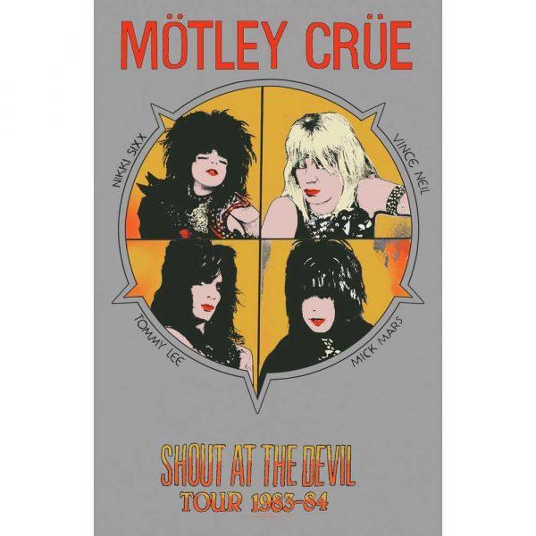 Posterflagga -Mötley Crüe - Shout at the Devil