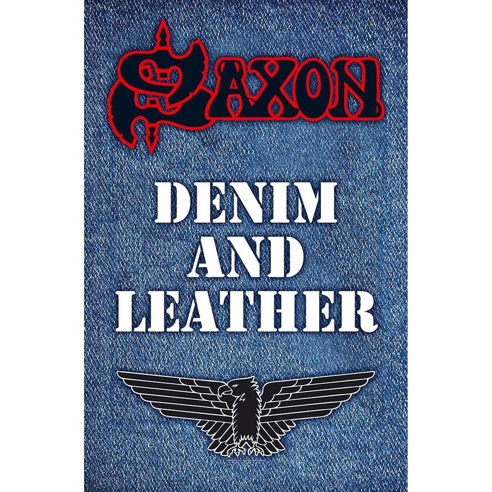 Posterflagga -Saxon - Denim & Leather