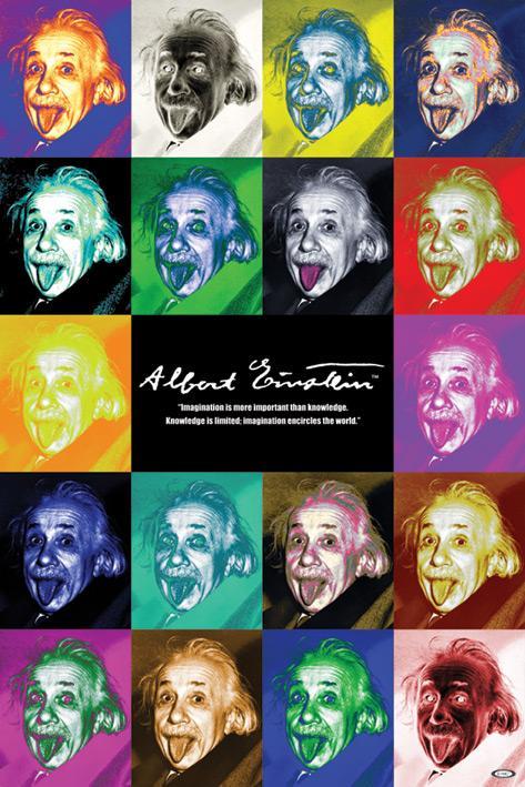 Albert Einstein pop art quote